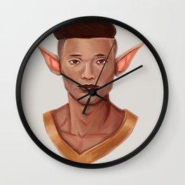 Chad, the Karate Elf Wall Clock