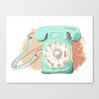 telephone Canvas Prints featuring Telephone by Paint Your Idea