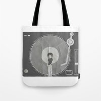 afro Tote Bags featuring afro deck by Vin Zzep