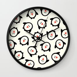 Happy Penguins Wall Clock