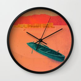 Udaipur, India - Classic Travel Poster Wall Clock