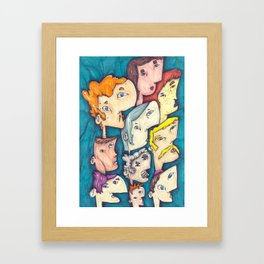 ten people Framed Art Print