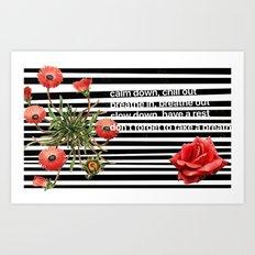 rush to relax Art Print