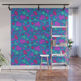 Colorful chaotic storm Wall Mural