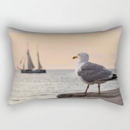 Sea gull and windjammer Rectangular Pillow