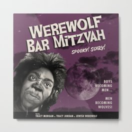 Werewolf Bar Mitzvah Spooky Scary Metal Print