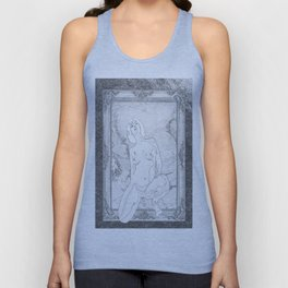 Out of the picture frame(trompe l'oeil ) Unisex Tank Top
