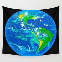 earth Wall Tapestries featuring Earth by Saundra Myles