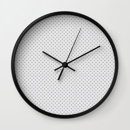 Polka Dot White Wall Clock