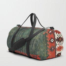 Cappadocian Central  Anatolian Antique Turkish Kilim Print Duffle Bag