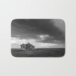 Sweeping Down the Plains - Abandoned House and Storm in Oklahoma Bath Mat