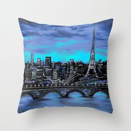 Eiffel Tower ~ Paris France Throw Pillow