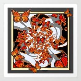Modern Monarch Butterfly Abstract Art Art Print