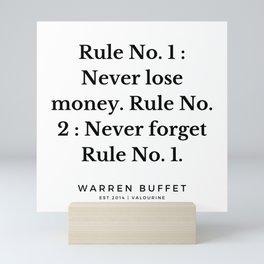 10    Warren Buffett Quotes   190823 Mini Art Print