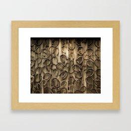 Horseshoes Framed Art Print