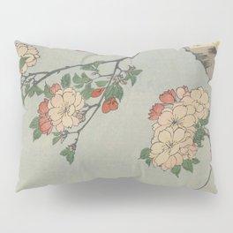 Cherry Blossoms on Spring River Ukiyo-e Japanese Art Pillow Sham