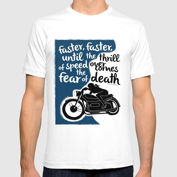 5407714d87e Hunter S. Thompson Moto Girl T-shirt by peatedproverbs