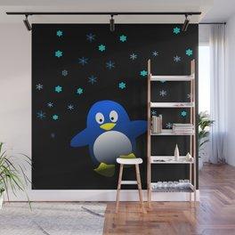 Dancing Penguin in the Dark Wall Mural