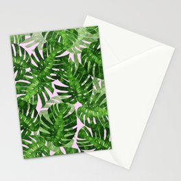 Tropical leaf VI Stationery Cards