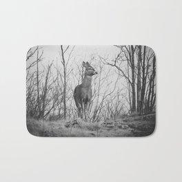 Deer II (black & white) Bath Mat