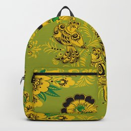 Rosemaling Folk Art Backpack