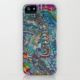 Greece in many languages iPhone Case