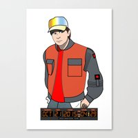 marty mcfly Canvas Prints featuring Marty McFly by Pendientera