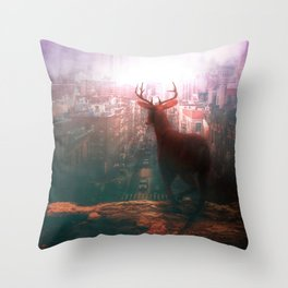 The City of Red Deer by GEN Z Throw Pillow