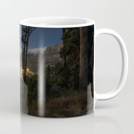 Cape Town city and Table Mountain at night Coffee Mug