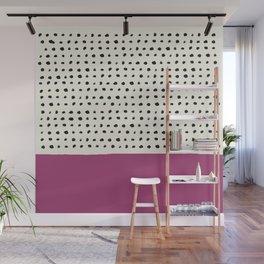 Raspberry x Dots Wall Mural