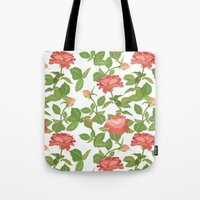 roses Tote Bags featuring Roses by Julia Badeeva