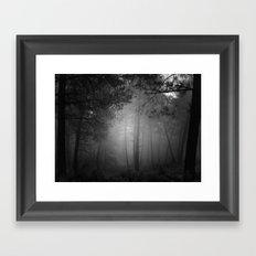 Fantasy forest. Mono Framed Art Print