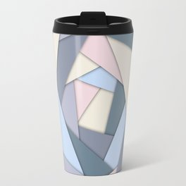 Geometric Layers of Color Travel Mug