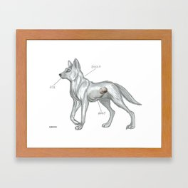 MAYBE THE DINGO ATE YOUR BABY Framed Art Print