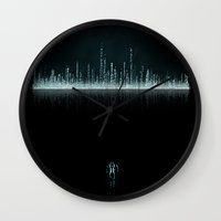 tron Wall Clocks featuring TRON CITY by The ED13