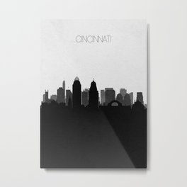 City Skylines: Cincinnati Metal Print