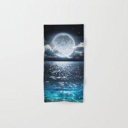 Full Moon over Ocean Hand & Bath Towel