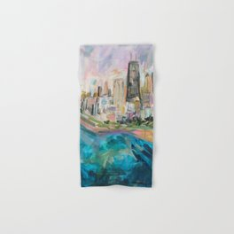 Chicago Skyline Hand & Bath Towel