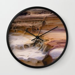 Undulating landscape 010 Wall Clock