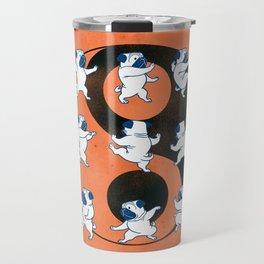 Pug Tai Chi Moves Travel Mug