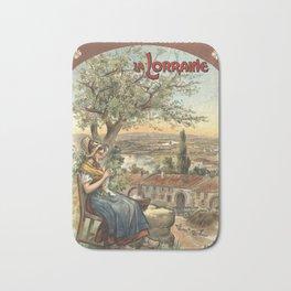 Lorraine 01 - Vintage Poster Bath Mat