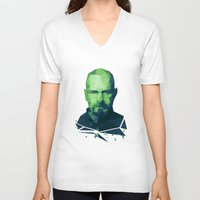 walter white V-neck T-shirts featuring Walter White by Dr.Söd