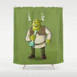 Shrek Smoking Shower Curtain