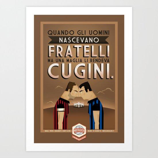 Poster Nostalgica - Fratelli Baresi Art Print