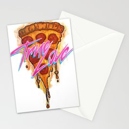 True Love Pizza Stationery Cards