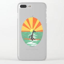Surf Unicorn Clear iPhone Case