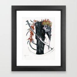Death & their maiden Framed Art Print