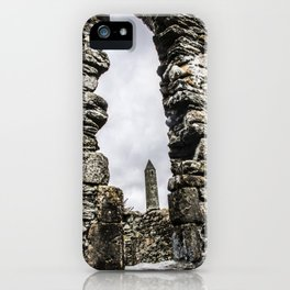 Travel to Ireland: Through the Glendalough Window iPhone Case