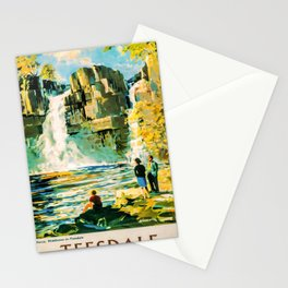 retro Teesdale old psoter Stationery Cards