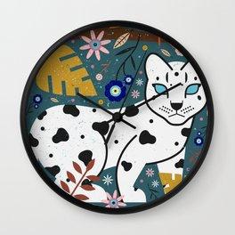Snow Leopard Cub Wall Clock